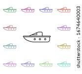 children boat line multi color...