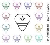 rock  pick  star multi color...