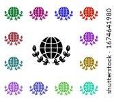 peace  globe  flower multi...
