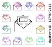 postal invoice multi color...