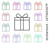 gifts multi color style icon....