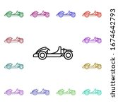 go kart multi color style icon. ...