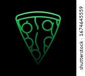 pizza nolan icon. simple thin...