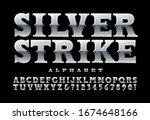 silver strike western vector... | Shutterstock .eps vector #1674648166