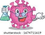 smart professor of corona virus ... | Shutterstock .eps vector #1674711619