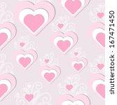 heart seamless | Shutterstock .eps vector #167471450