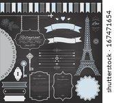 design elements set on retro... | Shutterstock .eps vector #167471654