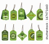 vector set of natural organic... | Shutterstock .eps vector #167471660