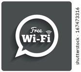 free wi fi icon. wifi speech... | Shutterstock .eps vector #167473316