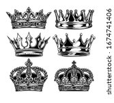 Crown King And Queen Set Black...
