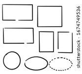 hand drawn doodle frame... | Shutterstock .eps vector #1674749536