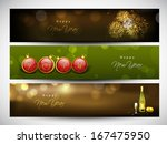 website header or banner set... | Shutterstock .eps vector #167475950