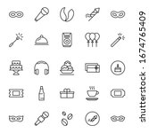 holidays line icon set....   Shutterstock .eps vector #1674765409
