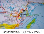 Thunder Bay on Canada travel map