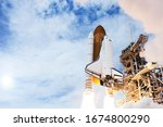 The Launch Of The Rocket With...