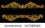 ornament of gold plated vintage ... | Shutterstock . vector #167480060