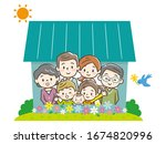 concept of the home of a young... | Shutterstock .eps vector #1674820996