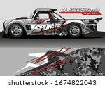 vehicle graphic kit vector.... | Shutterstock .eps vector #1674822043