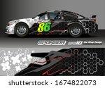 vehicle graphic kit vector.... | Shutterstock .eps vector #1674822073