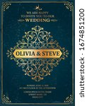 wedding classic vintage style... | Shutterstock .eps vector #1674851200