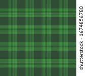 st. patricks day tartan plaid.... | Shutterstock .eps vector #1674856780