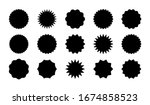 black sale stickers big set... | Shutterstock .eps vector #1674858523