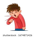 cough symptom illustration of... | Shutterstock .eps vector #1674871426