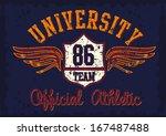 american college department... | Shutterstock .eps vector #167487488