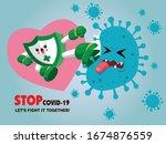 vector cartoon hero character... | Shutterstock .eps vector #1674876559