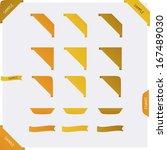 set of clean vector color... | Shutterstock .eps vector #167489030