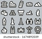 Landmarks Of The World Icons...
