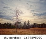 Before a snowstorm in Goshen, New Hampshire.
