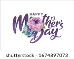 happy mother's day calligraphy... | Shutterstock .eps vector #1674897073