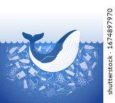 stop ocean plastic pollution....   Shutterstock .eps vector #1674897970