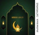 ramadan kareem islamic design... | Shutterstock .eps vector #1674904963