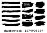 vector black paint  ink brush... | Shutterstock .eps vector #1674905389