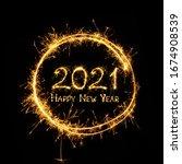 Happy new year 2021. text happy ...
