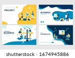 set of project workflow ... | Shutterstock .eps vector #1674945886