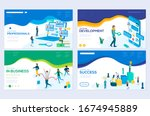 isometric programmer working in ... | Shutterstock .eps vector #1674945889