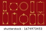set of various traditional... | Shutterstock .eps vector #1674973453
