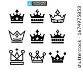 crown icon or logo isolated... | Shutterstock .eps vector #1674975853