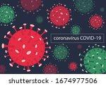 vector illustration corona... | Shutterstock .eps vector #1674977506