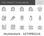 skin  are vector line icons....   Shutterstock .eps vector #1674983116