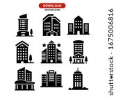 hotel icon or logo isolated...   Shutterstock .eps vector #1675006816