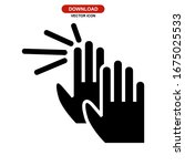 hand icon or logo isolated sign ...   Shutterstock .eps vector #1675025533
