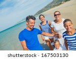 photo of happy family with... | Shutterstock . vector #167503130
