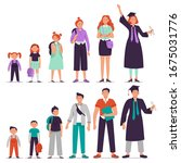 different ages students. little ... | Shutterstock . vector #1675031776