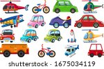 big set of different types of... | Shutterstock .eps vector #1675034119
