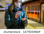 Woman In Winter Coat With...
