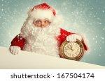 Santa Claus  With White Blank...